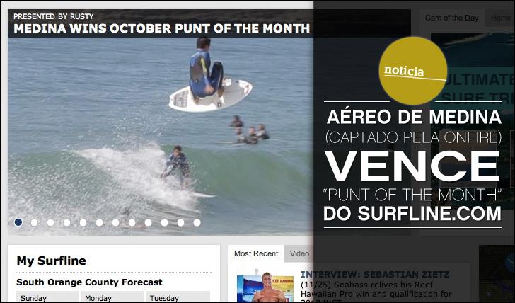 """5362Aéreo de Medina (captado pela ONFIRE) vence """"Punt of the Month"""" do Surfline.com"""