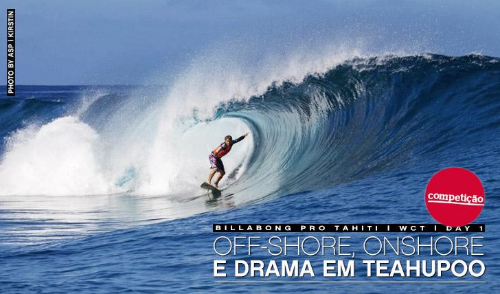 12164Off-shore, onshore e drama em Teahuppo   Billabong Pro Tahiti   Dia 1