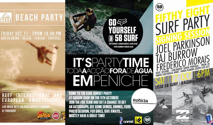 """13551""""Party Time"""" em Peniche, o calendário das festas"""