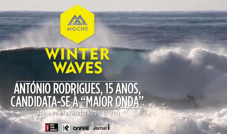 """16751António Rodrigues, 15 anos, candidata-se à """"Melhor Onda"""" do MOCHE Winter Waves"""