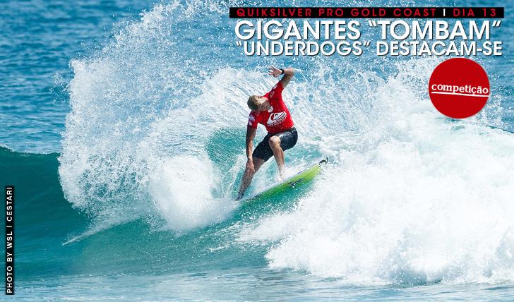 """23653""""Gigantes"""" tombam, """"underdogs"""" destacam-se no Quiksilver Pro   Dia 13"""