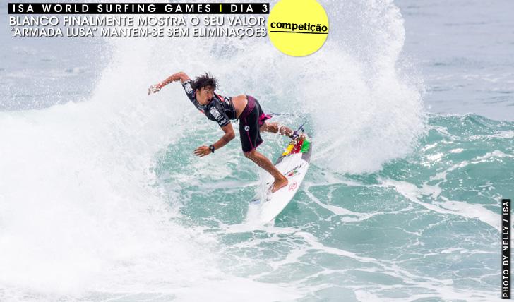 """25213Selecção """"brilha"""" no dia 3 do ISA World Surfing Games"""