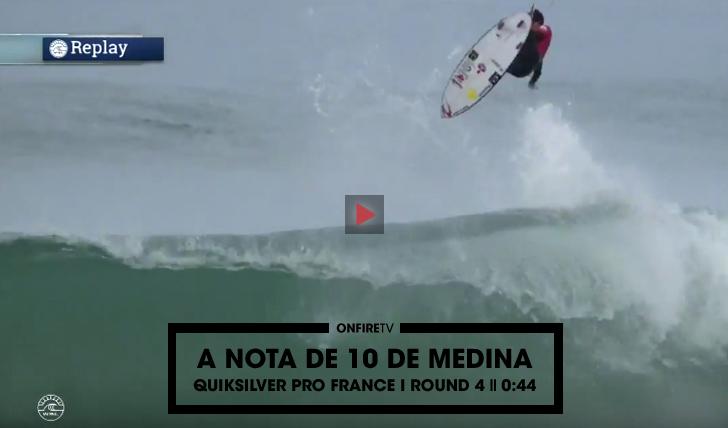 27724O 10 de Gabriel Medina no round 4 do Quiksilver Pro France || 0:44