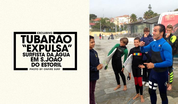"""27716Tubarão """"expulsa"""" surfista da água em S. João do Estoril"""