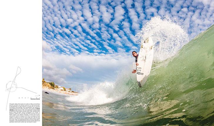 Tomás Valente num blow tail na fotogénica Praia da Torre. Photo by Francisco Santos