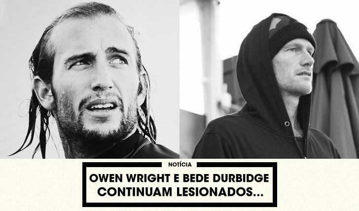 30150Owen Wright e Bede Durbidge continuam lesionados…