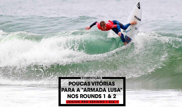 32071Poucas vitórias para os surfistas portugueses no dia 1 do Junior Pro Espinho