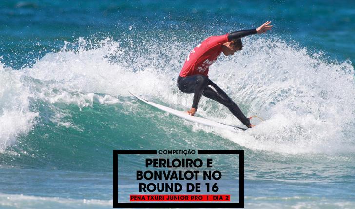 32414Perloiro e Bonvalot são os únicos portugueses em prova no round de 16 do Pena Txuri Junior Pro