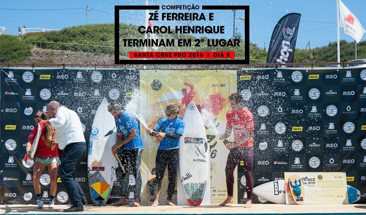 32577Zé Ferreira e Carol Henrique terminam em 2º lugar no Santa Cruz Pro 2016