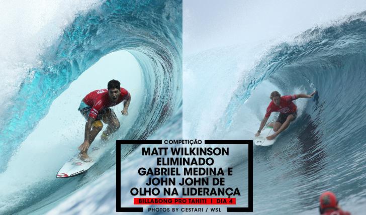33235Wilkinson em risco de perder a liderança no Billabong Pro Tahiti   Dia 4