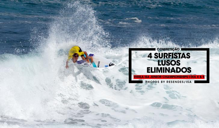 33779Quatro surfistas portugueses eliminados no Vissla ISA World Junior Surfing Championships