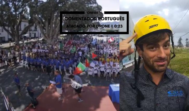 33766Comentador português atacado por Drone… || 0:23