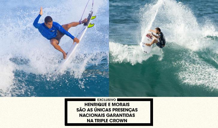 34755Morais e Henrique são os únicos surfistas lusos com vaga garantida na Triple Crown