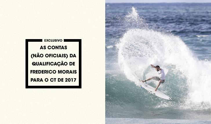 34948As contas (não oficiais) da qualificação de Frederico Morais para o CT de 2017
