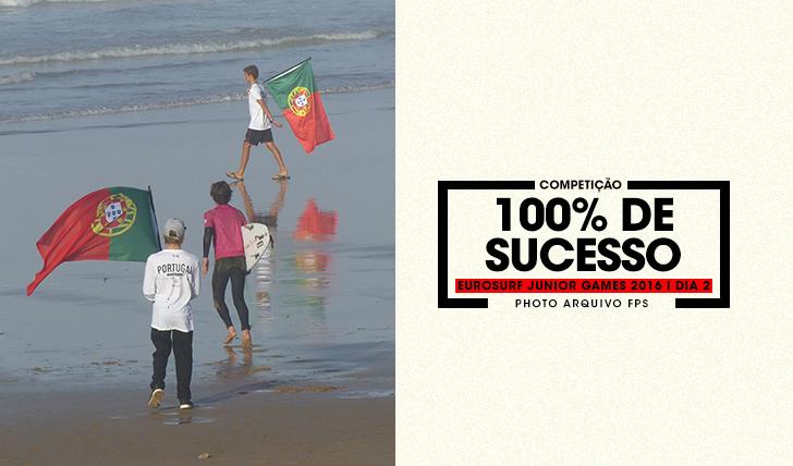 35215100% de sucesso para a selecção nacional no dia 2 do EuroSurf Junior