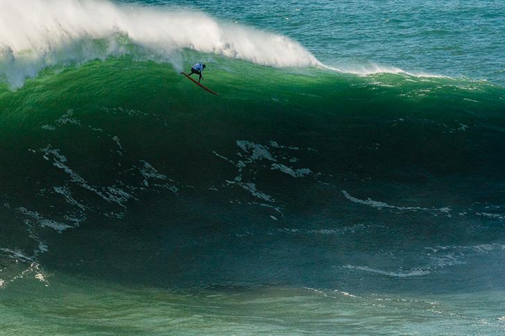 Mais uma bomba que contribuiu para o resultado de João Macedo. Photo by Pedro Mestre/Portuguese Waves