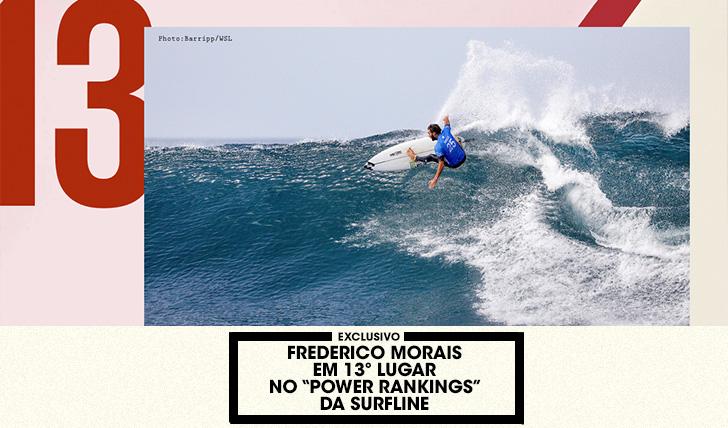 """37561Frederico Morais em 13º lugar nos """"Power Rankings"""" da Surfline"""