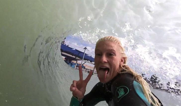 44308Tati, Jesse & Tomás na Wave Pool de Kelly Slater || 8:10