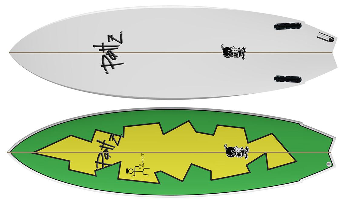 "45401Summer Boards   Twin Fin ""The Saint"" by POTTZ Surfboards"